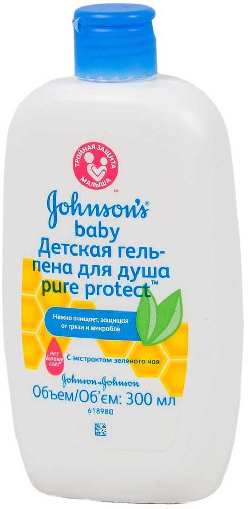 Гель-пена Johnson's Pure protect для душа
