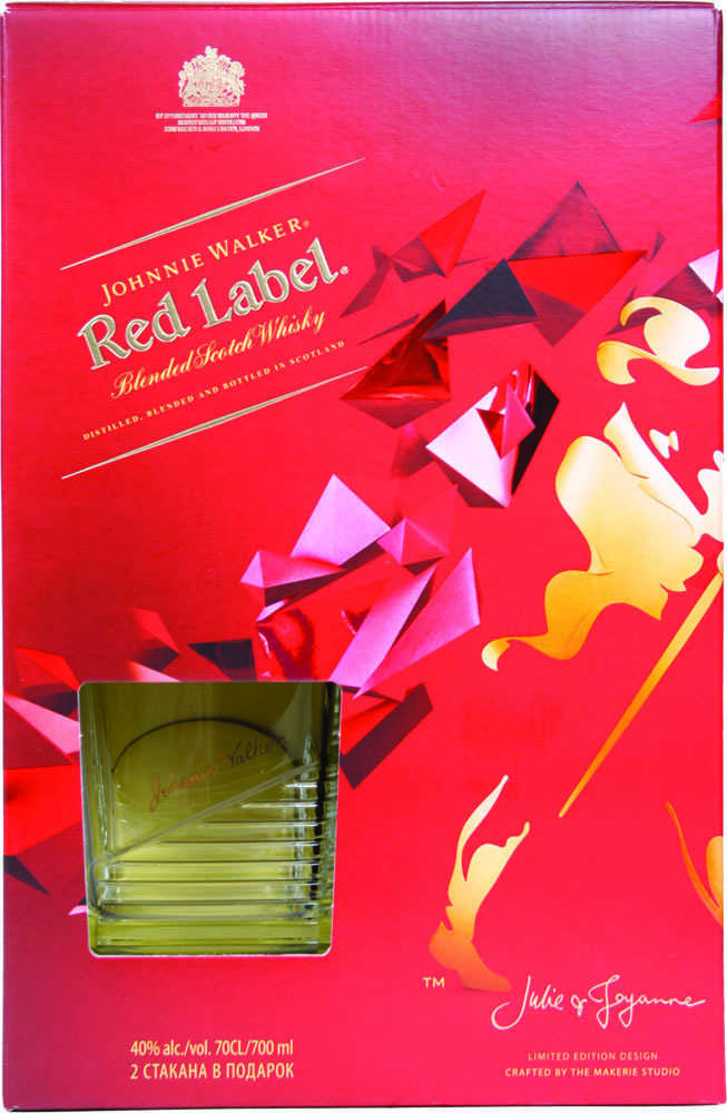 Виски Johnnie Walker Red Label 40% + 2 стакана