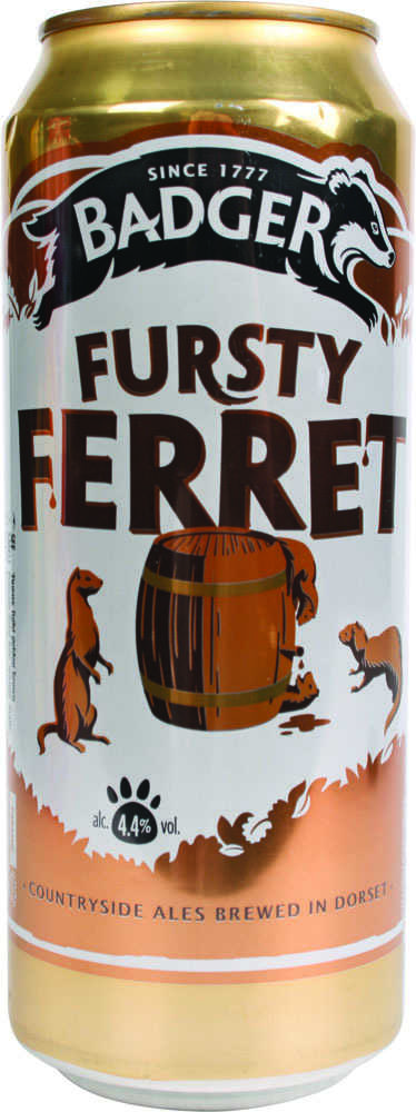 ПИВО BADGER FRUSTY FERRET 4.4% 500МЛ ЖБ