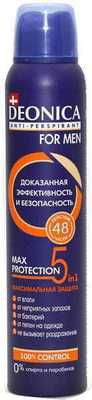 Антиперспирант Deonica for men 5in1 Max protection