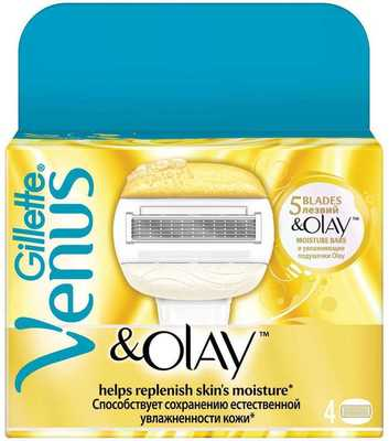 Кассеты Gillette Venus&Olay 4шт