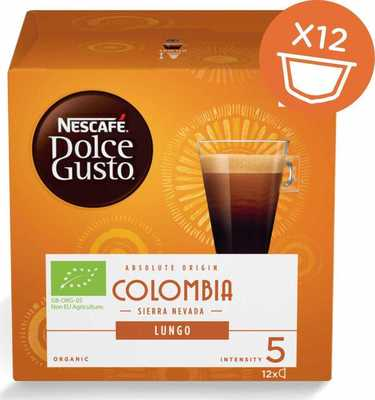 Капсулы NescafeDolce Gusto Lungo Colombia 12 капсул