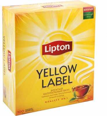 Чай черный Lipton Yellow Label 150 пакетиков