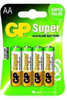 Батарейка GP Super Alkaline AA 1.5 V 4 шт